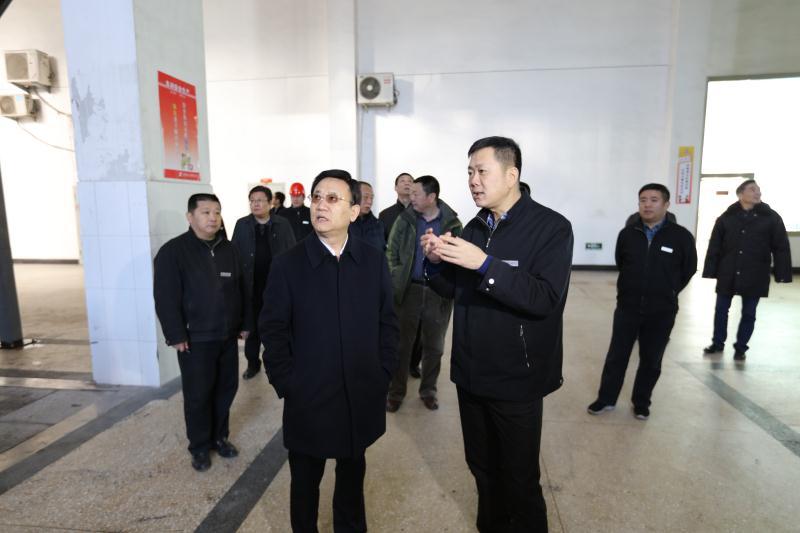 市人大常委会主任徐长玉到莲花山热源厂检查指导工作
