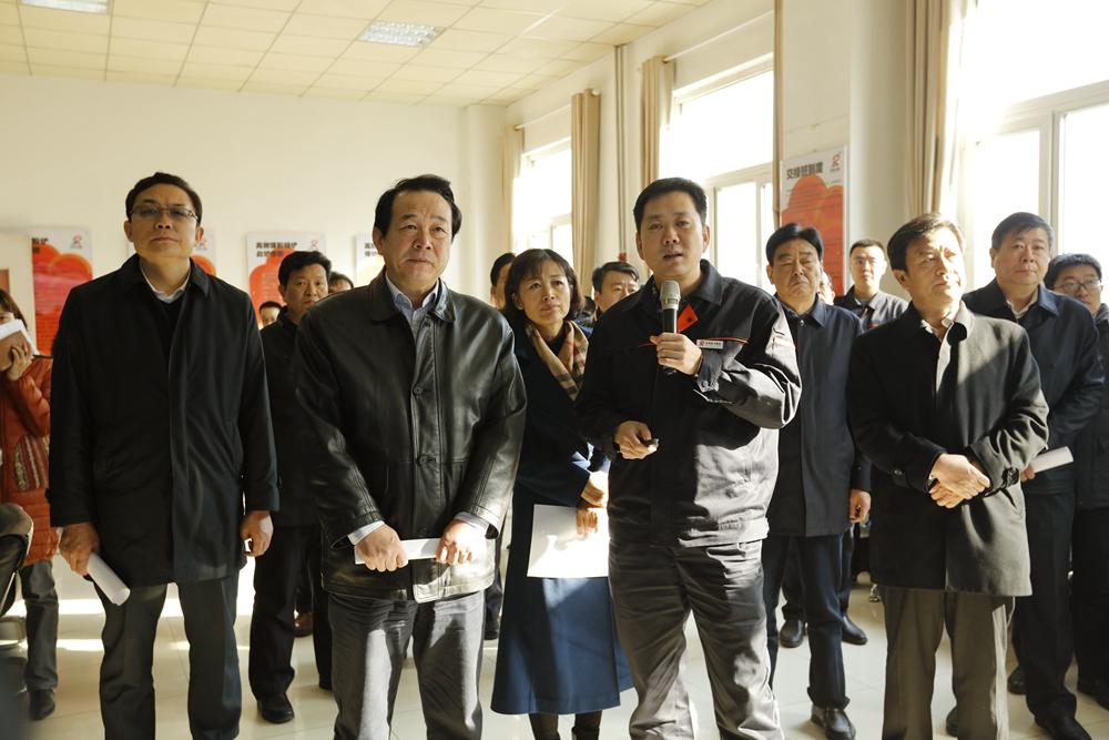 济南市人大常委会主任殷鲁谦到我集团浆水泉供热公司视察工作